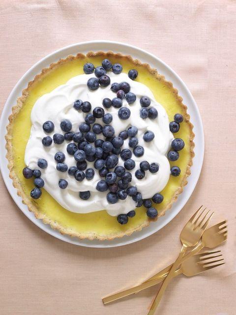 Recipe for lemon poppy seed tart.