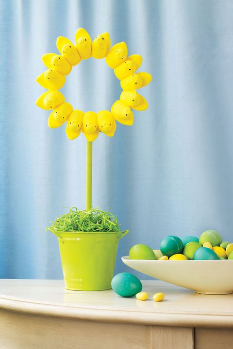 Peeps Sunflower - Easter crafts for adults