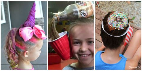 Hairstyle, Beverage can, Hair accessory, Pink, Style, Bottle, Drink, Headgear, Logo, Costume accessory,