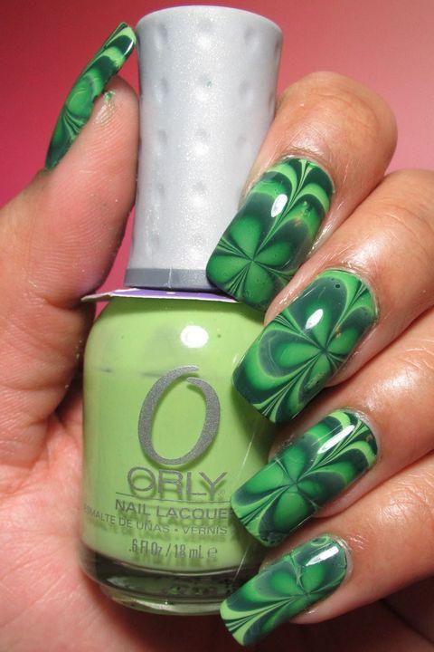 St. Patrick\'s Day Nails - Green Nail Art Ideas