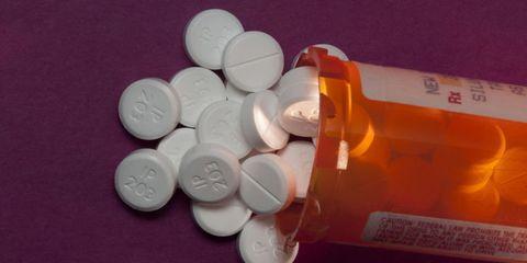Pill, Medicine, Prescription drug, Pharmaceutical drug, Orange, Analgesic, Medical, Health care, Chemical compound, Plastic,