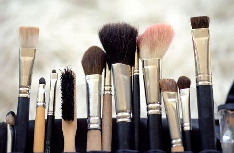Brown, Brush, Pink, Purple, Beauty, Lavender, Cosmetics, Beige, Makeup brushes, Paint brush,