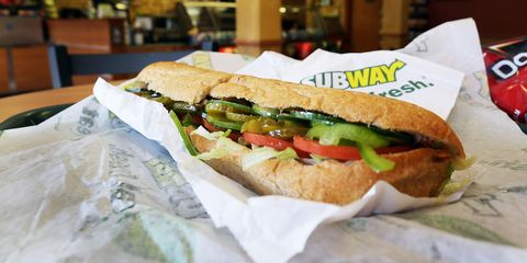 Subway footlong sub