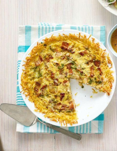 kid friendly recipes quiche lorraine with hash brown crust recipe
