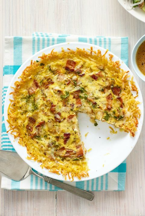 Quiche Lorraine with Hash Brown Crust Recipe