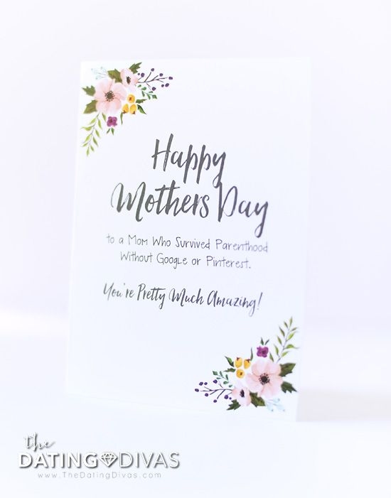 graphic relating to Happy Mothers Day Printable Cards identified as 23 Moms Working day Playing cards - Totally free Printable Moms Working day Playing cards