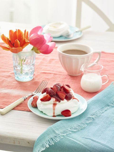 4th of july desserts  pavlovas with strawberries and cream recipe