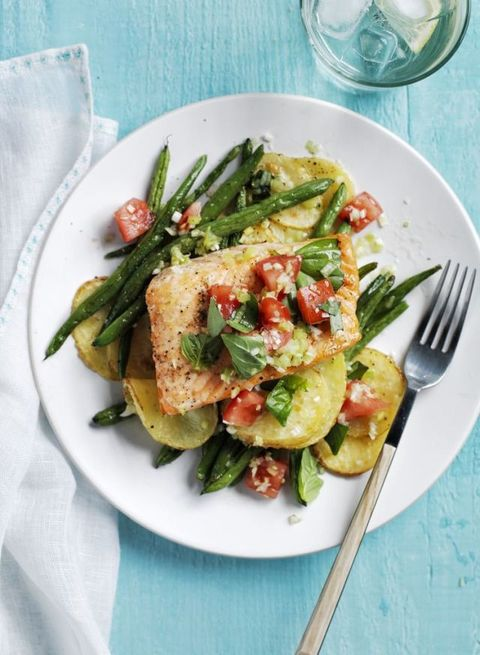 Roasted Salmon, Potatoes & Green Beans Recipe