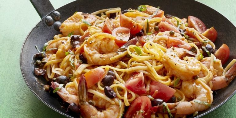 Best Shrimp Linguine Puttanesca Recipe - WomansDay.com