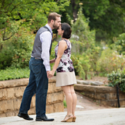 Dress, Interaction, People in nature, Honeymoon, Romance, Love, Foot, Shrub, Garden, Gesture,