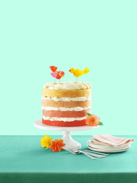 Pink Ombré Cake Recipe