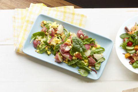 Spinach, Potato and Corn Salad