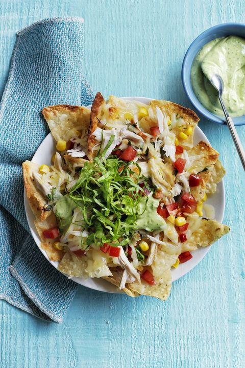 easy chicken dinner recipes - loaded chicken nachos