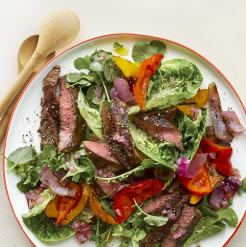 fajita salad with charred jalapeño dressing recipe