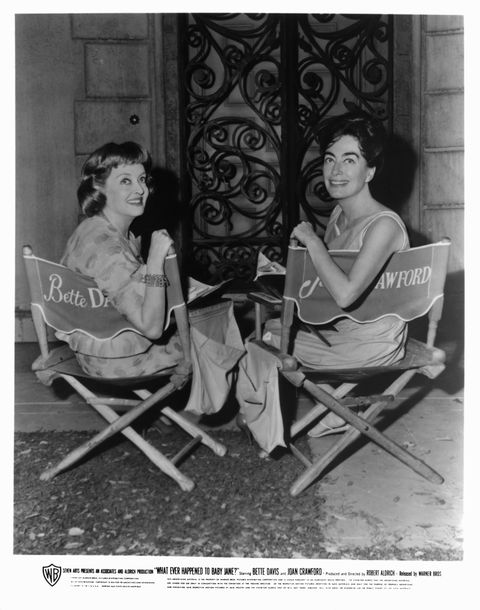 "<p>The feud that started it all. And by ""it all,"" we mean Ryan Murphy's new show. Bette and Joan had an infamously rocky relationship while filming <em>Whatever Happened to Baby Jane?</em> In fact,  Joan Crawford (or La Belle Crawford, as Bette called her) trolled her costar by sending her a rose every day just to be annoying. </p><p>""Somebody is sending me one damn rose every day in a lousy little bud vase, and it's driving me crazy,"" Bette reportedly <a href=""http://www.vanityfair.com/hollywood/2010/04/devil-in-ms-davis-200104"" target=""_blank"">told</a> producer William Frye. ""If you're going to send roses, for God's sake, send a dozen, or more."" #Iconic.</p>"