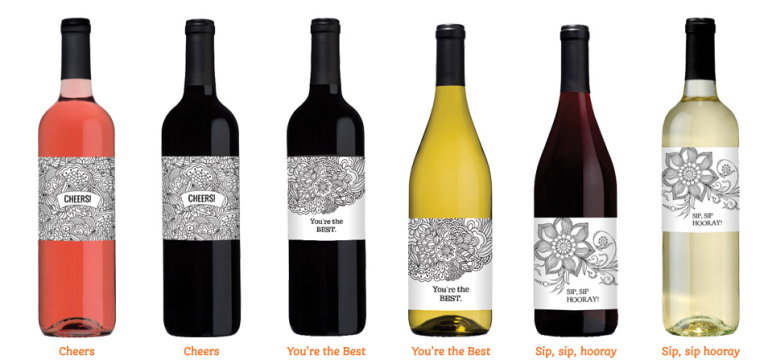 Wine coloring bottles are here color in wine labels for How to color wine bottles