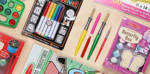 Stationery, Writing implement, Pink, Paper product, Office supplies, Paint, Collection, Office instrument, Cosmetics, Games,
