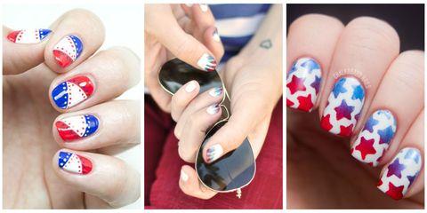 Blue, Finger, Skin, Nail care, Nail, Nail polish, Manicure, Red, Majorelle blue, Style,
