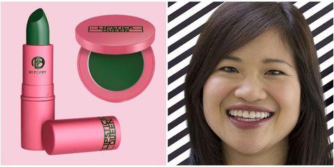 Lip, Smile, Hairstyle, Skin, Forehead, Eyebrow, Pink, Happy, Facial expression, Eyelash,