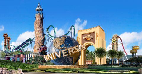 Sky, Landmark, Park, Nonbuilding structure, Tourist attraction, Tower, Amusement park, Palm tree, Spire,
