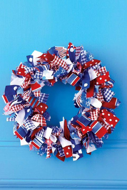 4th of july crafts  fabric wrapped wreath