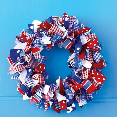 4th of july crafts - 4th of july wreath