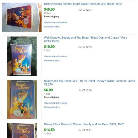 Disney VHS Tapes Worth Money - How Much Are Classic Disney