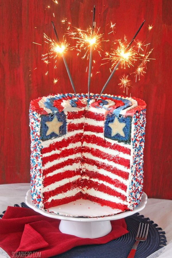 20 Patriotic 4th of July Cupcakes Cakes Recipes for Red White