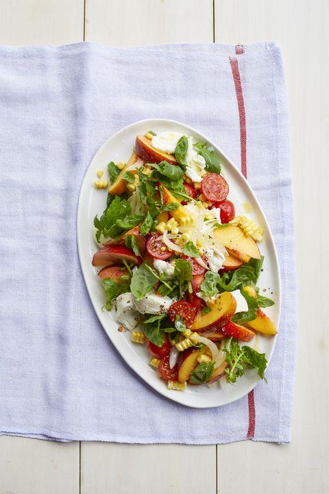 bbq side dishes  peach caprese salad