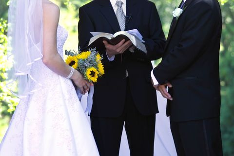 Clothing, Blue, Coat, Dress, Yellow, Trousers, Standing, Suit, Photograph, Bridal clothing,