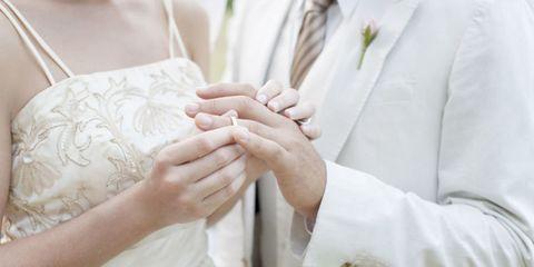 Finger, Textile, Photograph, Hand, Bridal clothing, Wedding dress, Wrist, Ceremony, Gesture, Marriage,