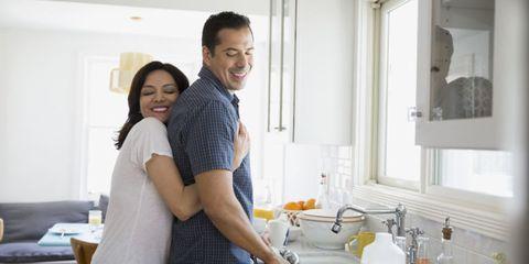 Smile, Fluid, Plumbing fixture, Room, Happy, Tap, Interaction, Sink, Bathroom sink, Plumbing,