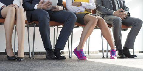 Clothing, Footwear, Leg, Shoe, Trousers, Sitting, Human leg, Outerwear, Thigh, Knee,