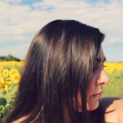 Hairstyle, Field, People in nature, Summer, Agriculture, Black hair, Farm, Long hair, Brown hair, Step cutting,