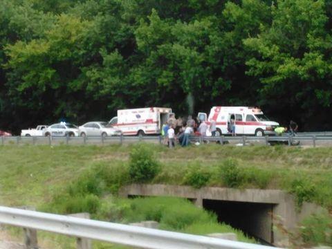 Motor vehicle, Land vehicle, Van, Truck, Light commercial vehicle, Ambulance, Emergency vehicle, Law enforcement, Parking, Guard rail,
