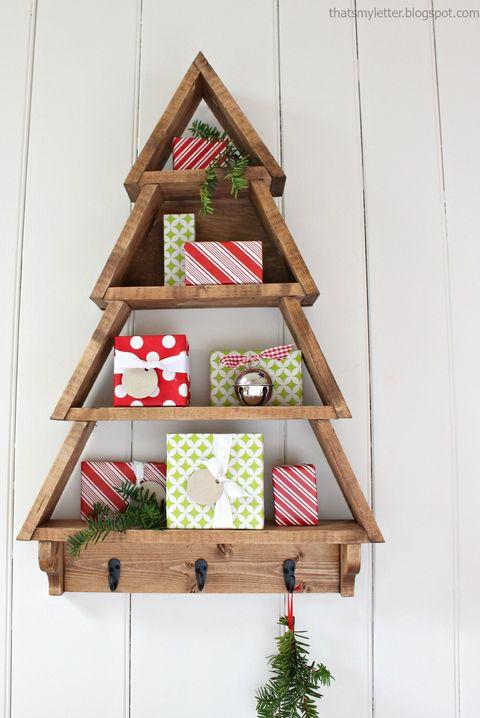 christmas crafts diy tree shelf - Craft Christmas