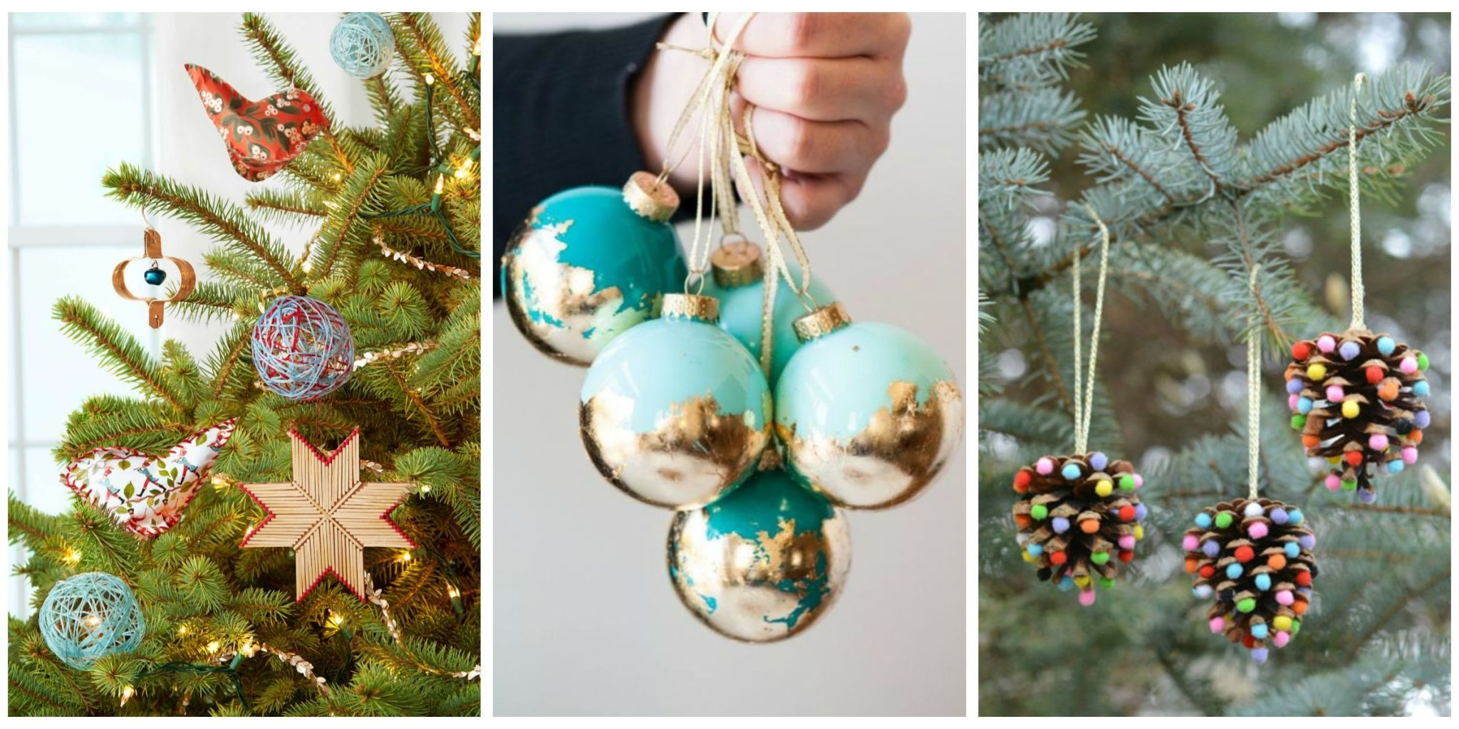 Skip the store-bought decor and get crafty this holiday season with these homemade ornaments. & 32 Homemade DIY Christmas Ornament Craft Ideas - How To Make Holiday ...