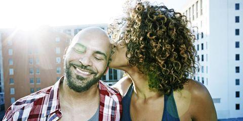 Head, Facial hair, Hairstyle, Jheri curl, Plaid, Beard, Ringlet, Style, Tartan, Interaction,