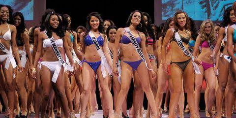 Clothing, Face, Leg, Smile, People, Fun, Human leg, Bikini, Thigh, Competition event,