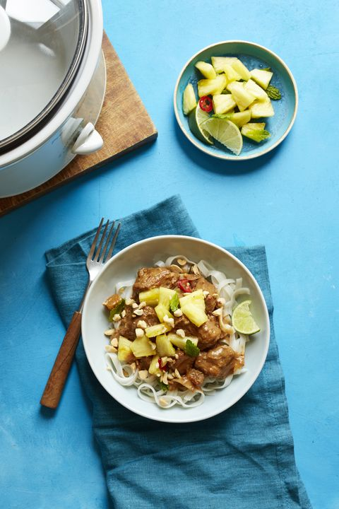 Thai-Style Pork with Rice Noodles Recipe