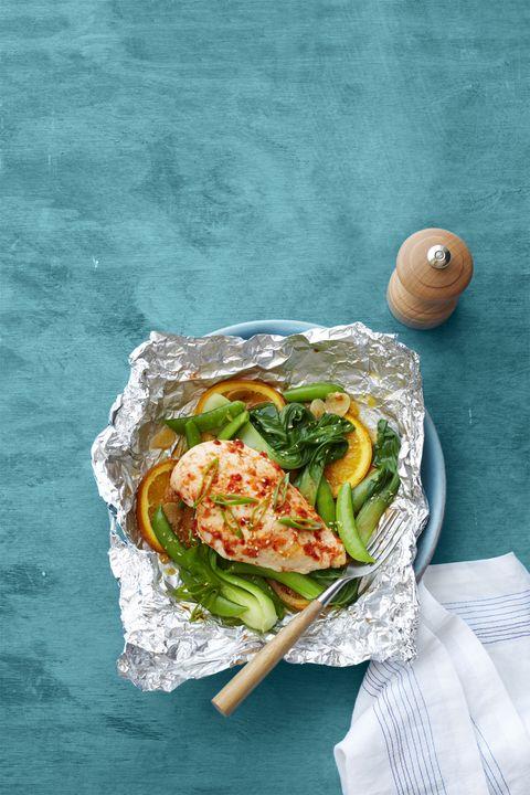 Orange Chili Chicken with Snap Peas Recipe