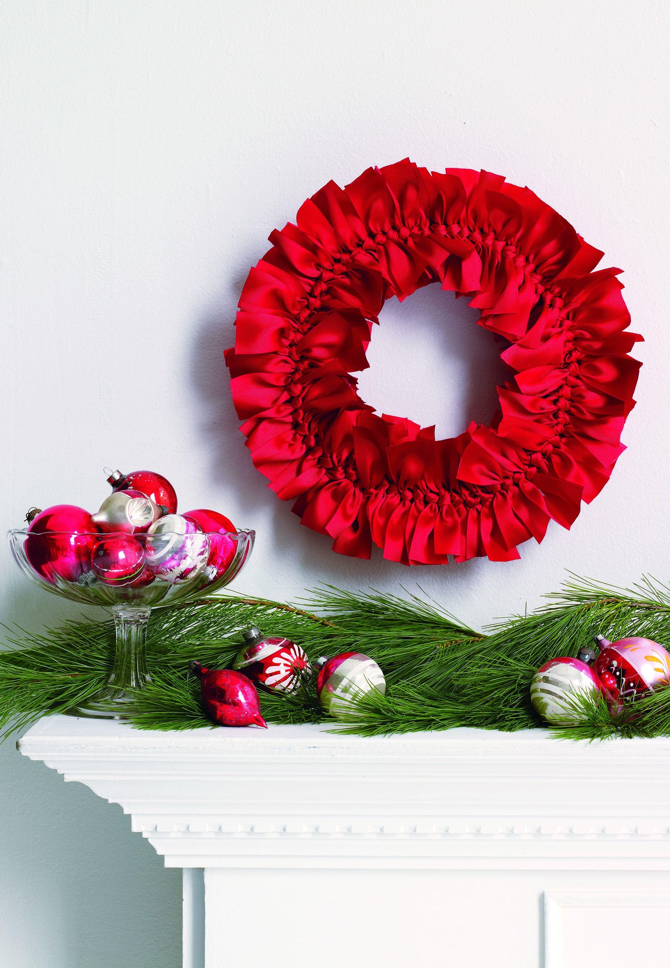 diy christmas wreath ideas  how to make a homemade holiday wreath womansdaycom.  diy christmas wreath ideas  how to make a homemade holiday