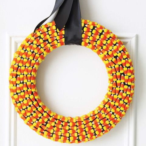 halloween crafts - candy corn wreaths