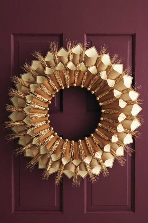 Circle, Wreath, Christmas decoration, Mirror, Interior design,