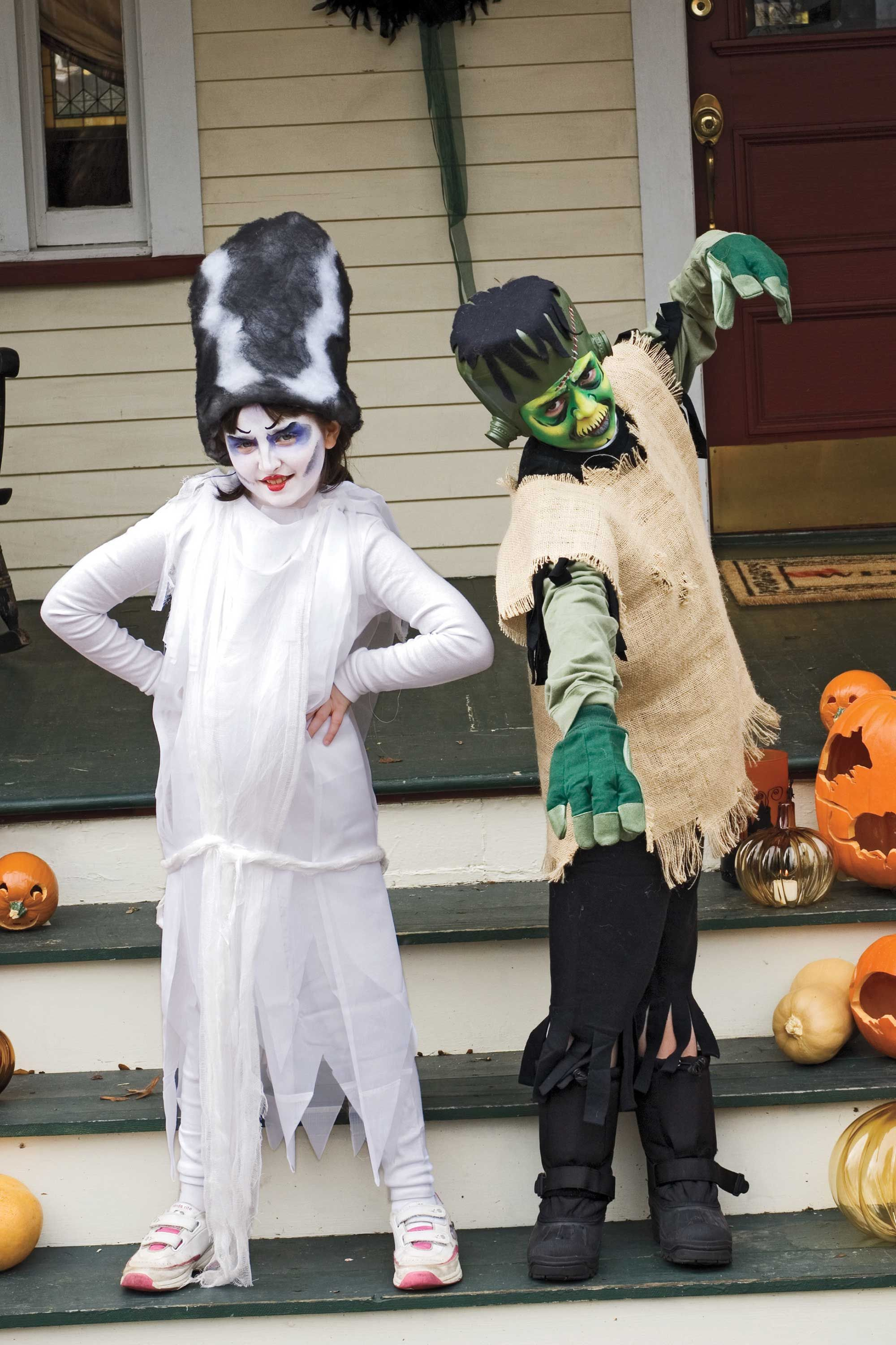 image  sc 1 st  Womanu0027s Day & Bride of Frankenstein Costume for Kids