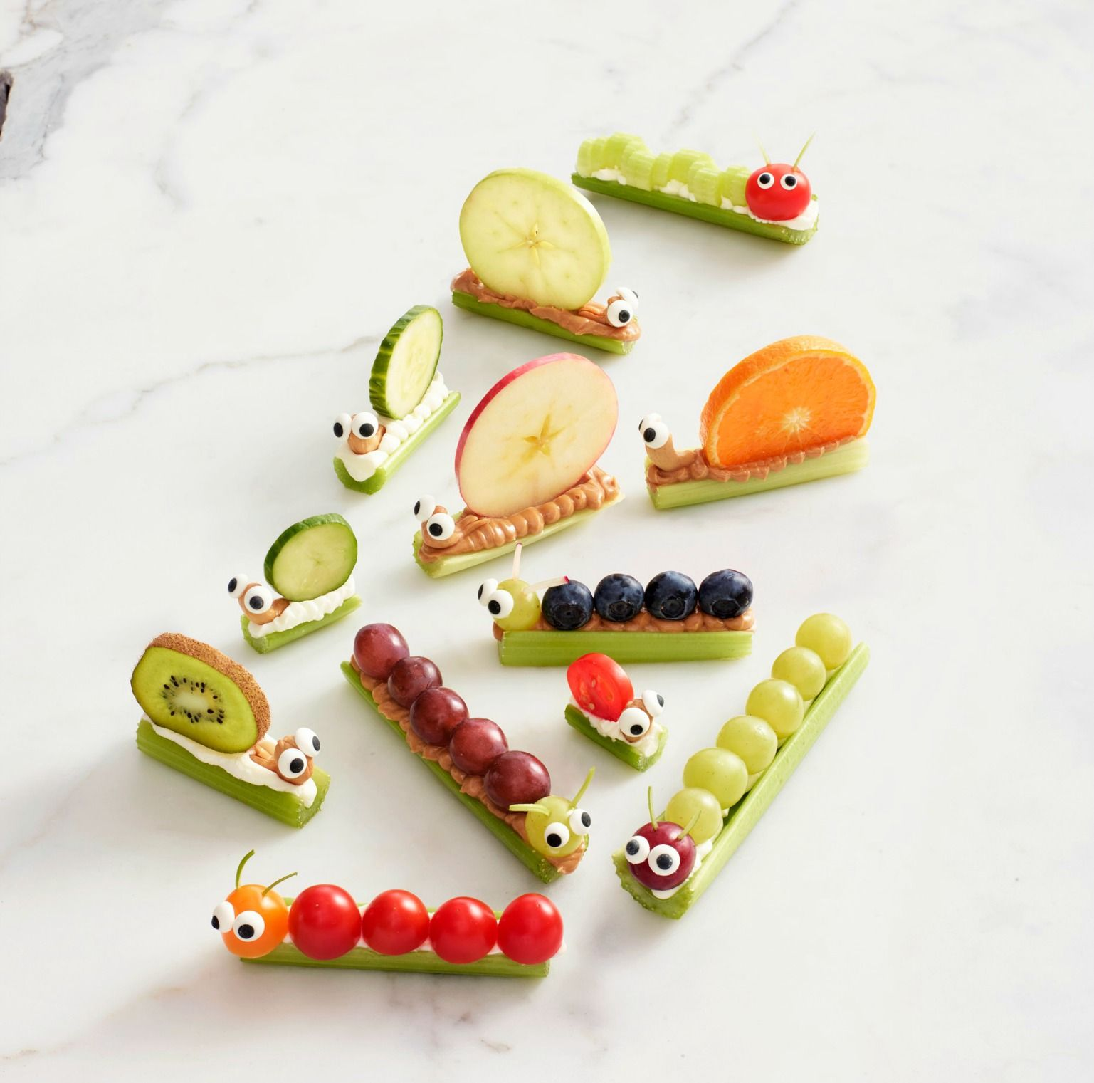 Best Celery Snails Caterpillars Snack Recipes For Kids Womansday Com