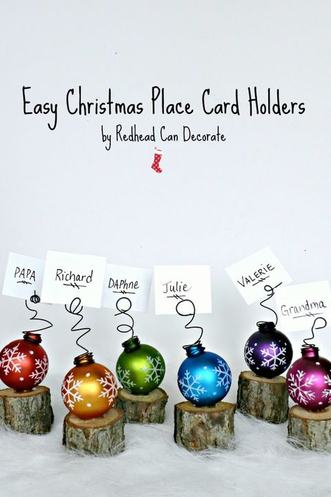 christmas table decorations easy place card holders