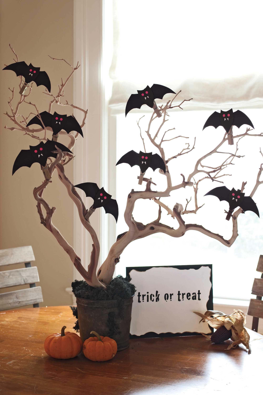 Halloween Batty Centerpiece How-to