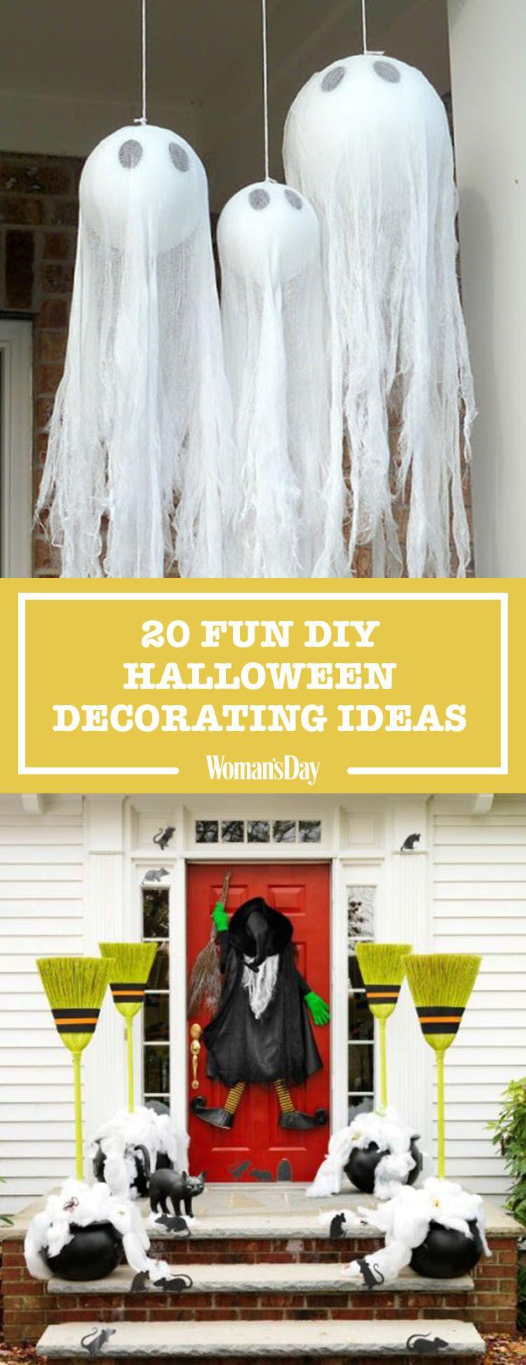 40+ Easy DIY Halloween Decoration Ideas - Homemade Halloween Decor ...