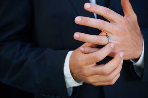 Finger, Collar, Hand, Wrist, Thumb, Formal wear, Nail, Gesture, Cuff, Nail care,